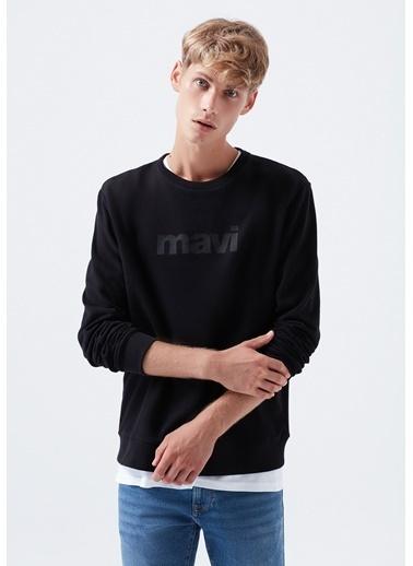 Mavi Mavi Baskılı  Sweatshirt Siyah